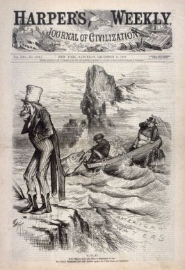 C. O. D., from Harper's Weekly, (December 15, 1877), cover page
