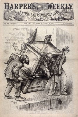 Another Sedan, from Harper's Weekly, (November 10, 1877), cover page
