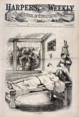 Foully Murdered, from Harper's Weekly, (July 7, 1877), cover page
