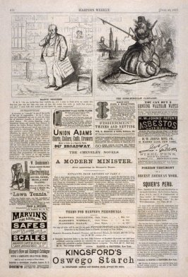 Happy Thought and The Russ(hing)ian Campaign, from Harper's Weekly, (June 30, 1877), p. 512