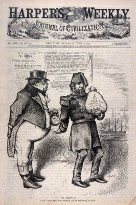 The Almight L, from Harper's Weekly, (June 9, 1877), cover page