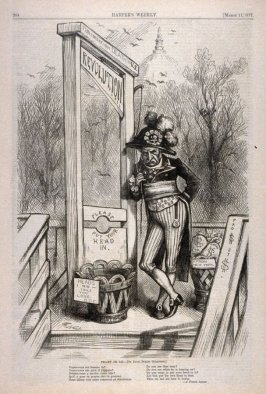 Projet De Loi (By David Dudley Guillotine), from Harper's Weekly, (March 17, 1877), p. 204