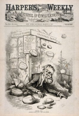 Hew(itt) Down, from Harper's Weekly, (March 10, 1877), cover page