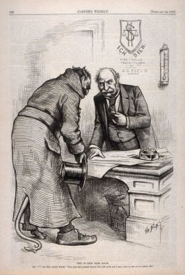They Do Each Other Honor, from Harper's Weekly, February 24, 1877), p. 152