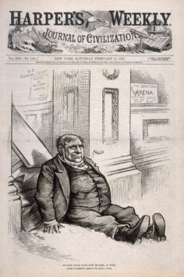 Ex-Judge David Davis (Now Senator), from Harper's Weekly, (February 17, 1877), cover page