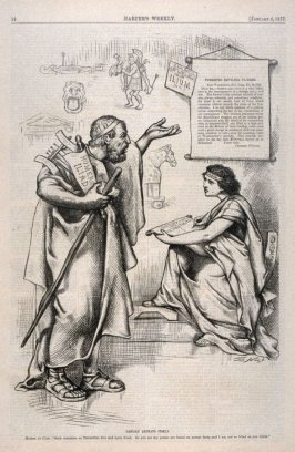 History Repeats Itself, from Harper's Weekly, (January 6, 1877), p. 12