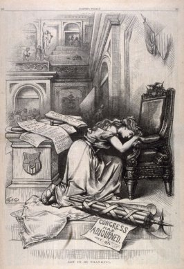 Let Us Be Thankful, from Harper's Weekly, (July 4, 1874), p. 560
