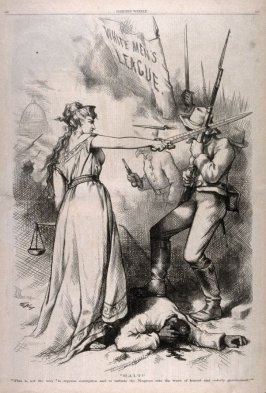 Halt!, from Harper's Weekly, (October 17, 1874), p. 856