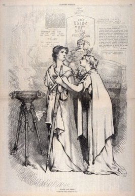 Justice and Peace, from Harper's Weekly, (December 2, 1876), p. 972
