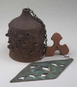 Bell with clapper and ornament