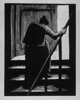 Second image (of eight) for Childhood , chapter 1 in the book Destiny, A Novel in Pictures by Otto Nückel (New York: Farrar and Rinehart,Inc. [1930 ])
