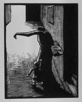 Fourth image (of eight) for Childhood , chapter 1 in the book Destiny, A Novel in Pictures by Otto Nückel (New York: Farrar and Rinehart,Inc. [1930 ])