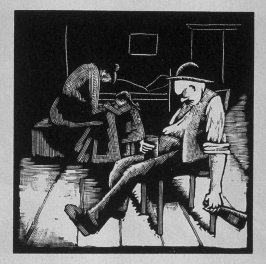Fifth image (of eight) for Childhood , chapter 1 in the book Destiny, A Novel in Pictures by Otto Nückel (New York: Farrar and Rinehart,Inc. [1930 ])
