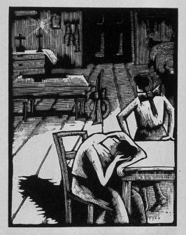 Fifth image (of six) for The Father , chapter 2 in the book Destiny, A Novel in Pictures by Otto Nückel (New York: Farrar and Rinehart,Inc. [1930 ])