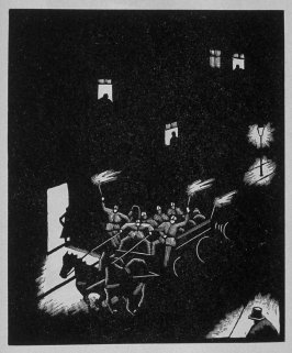 Eighth image (of thirteen) for The Mother , chapter 3 in the book Destiny, A Novel in Pictures by Otto Nückel (New York: Farrar and Rinehart,Inc. [1930 ])