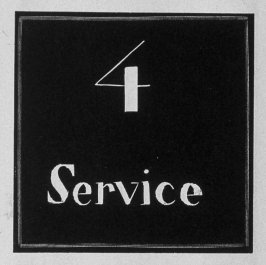 Heading for Chapter 4, Service, in the book Destiny, A Novel in Pictures by Otto Nückel (New York: Farrar and Rinehart,Inc. [1930 ])