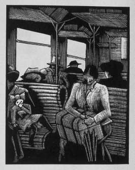 First image (of four) for Service , chapter 4 in the book Destiny, A Novel in Pictures by Otto Nückel (New York: Farrar and Rinehart,Inc. [1930 ])