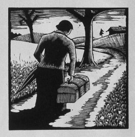 Second image (of four) for Service , chapter 4 in the book Destiny, A Novel in Pictures by Otto Nückel (New York: Farrar and Rinehart,Inc. [1930 ])