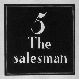 Heading for Chapter 5, The Salesman, in the book Destiny, A Novel in Pictures by Otto Nückel (New York: Farrar and Rinehart,Inc. [1930 ])