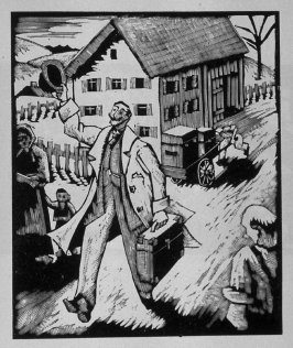 First image (of ten) for The Salesman , chapter 5 in the book Destiny, A Novel in Pictures by Otto Nückel (New York: Farrar and Rinehart,Inc. [1930 ])