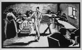 Second image (of ten) for The Salesman , chapter 5 in the book Destiny, A Novel in Pictures by Otto Nückel (New York: Farrar and Rinehart,Inc. [1930 ])