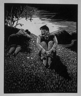 Seventh image (of ten) for The Salesman , chapter 5 in the book Destiny, A Novel in Pictures by Otto Nückel (New York: Farrar and Rinehart,Inc. [1930 ])
