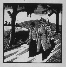 Eighth image (of twelve) for The Child , chapter 6 in the book Destiny, A Novel in Pictures by Otto Nückel (New York: Farrar and Rinehart,Inc. [1930 ])