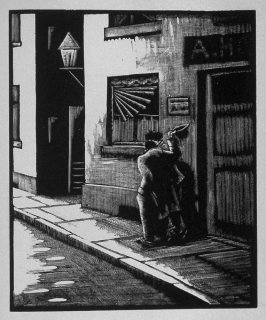 Third image (of twelve) for The Hunchback , chapter 7 in the book Destiny, A Novel in Pictures by Otto Nückel (New York: Farrar and Rinehart,Inc. [1930 ])