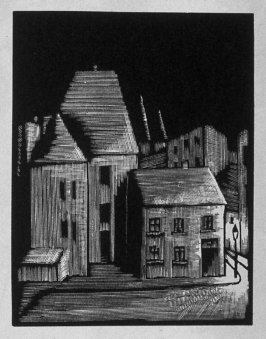 Seventh image (of twelve) for The Hunchback , chapter 7 in the book Destiny, A Novel in Pictures by Otto Nückel (New York: Farrar and Rinehart,Inc. [1930 ])