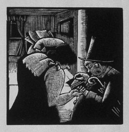 Eleventh image (of twelve) for The Hunchback , chapter 7 in the book Destiny, A Novel in Pictures by Otto Nückel (New York: Farrar and Rinehart,Inc. [1930 ])