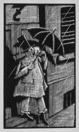 Twelfth image (of twelve) for The Hunchback , chapter 7 in the book Destiny, A Novel in Pictures by Otto Nückel (New York: Farrar and Rinehart,Inc. [1930 ])