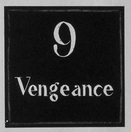 Heading for Chapter 9, Vengeance, in the book Destiny, A Novel in Pictures by Otto Nückel (New York: Farrar and Rinehart,Inc. [1930 ])