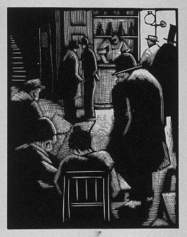 First image (ofeleven) for Vengeance , chapter 9 in the book Destiny, A Novel in Pictures by Otto Nückel (New York: Farrar and Rinehart,Inc. [1930 ])
