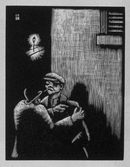 Second image (ofeleven) for Vengeance , chapter 9 in the book Destiny, A Novel in Pictures by Otto Nückel (New York: Farrar and Rinehart,Inc. [1930 ])