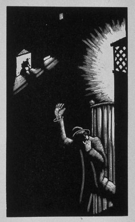 Fourth image (ofeleven) for Vengeance , chapter 9 in the book Destiny, A Novel in Pictures by Otto Nückel (New York: Farrar and Rinehart,Inc. [1930 ])