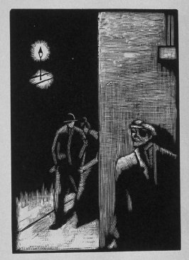 Fifth image (ofeleven) for Vengeance , chapter 9 in the book Destiny, A Novel in Pictures by Otto Nückel (New York: Farrar and Rinehart,Inc. [1930 ])
