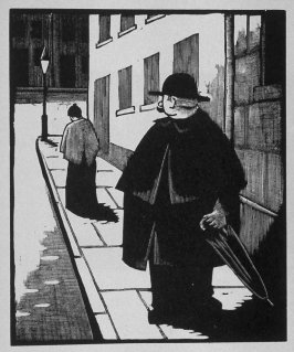 First image (of nine) for The Taylor(sic) , chapter 10 in the book Destiny, A Novel in Pictures by Otto Nückel (New York: Farrar and Rinehart,Inc. [1930 ])