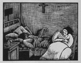 Seventh image (of nine) for The Taylor(sic) , chapter 10 in the book Destiny, A Novel in Pictures by Otto Nückel (New York: Farrar and Rinehart,Inc. [1930 ])