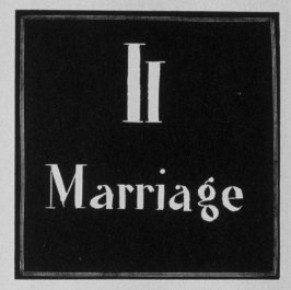 Heading for Chapter 11, Marriage, in the book Destiny, A Novel in Pictures by Otto Nückel (New York: Farrar and Rinehart,Inc. [1930 ])