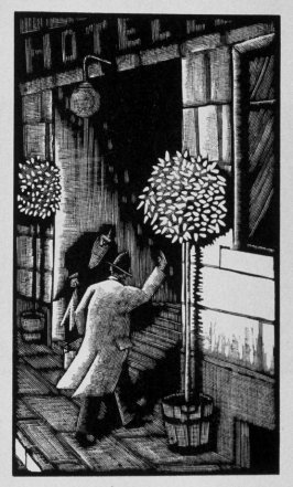 Fourth image (of twenty) for The Seducer, chapter 12 in the book Destiny, A Novel in Pictures by Otto Nückel (New York: Farrar and Rinehart, Inc. [1930 ])