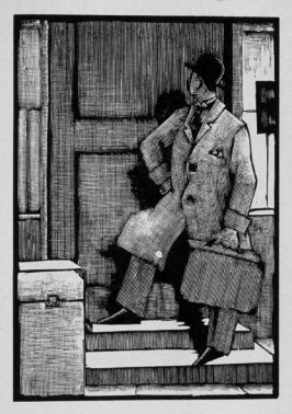 Seventh image (of twenty) for The Seducer, chapter 12 in the book Destiny, A Novel in Pictures by Otto Nückel (New York: Farrar and Rinehart, Inc. [1930 ])