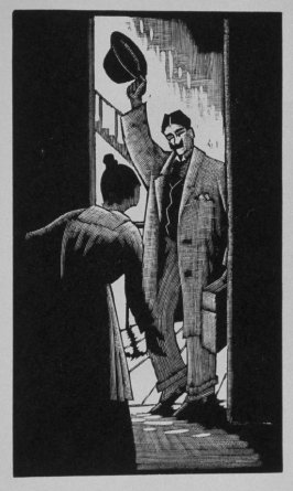 Ninth image (of twenty) for The Seducer, chapter 12 in the book Destiny, A Novel in Pictures by Otto Nückel (New York: Farrar and Rinehart, Inc. [1930 ])