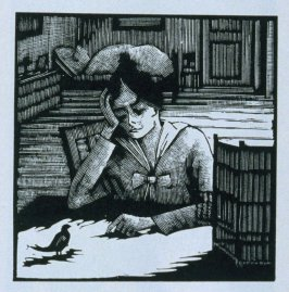 Eleventh image (of twenty) for The Seducer, chapter 12 in the book Destiny, A Novel in Pictures by Otto Nückel (New York: Farrar and Rinehart, Inc. [1930 ])