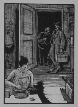 Twelfth image (of twenty) for The Seducer, chapter 12 in the book Destiny, A Novel in Pictures by Otto Nückel (New York: Farrar and Rinehart, Inc. [1930 ])