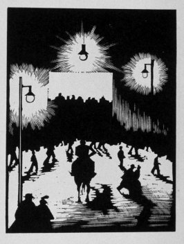 Eighteenth image (of twenty) for The Seducer, chapter 12 in the book Destiny, A Novel in Pictures by Otto Nückel (New York: Farrar and Rinehart, Inc. [1930 ])