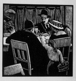 Nineteenth image (of twenty) for The Seducer, chapter 12 in the book Destiny, A Novel in Pictures by Otto Nückel (New York: Farrar and Rinehart, Inc. [1930 ])