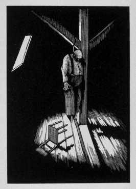Tenth image (of ten) for The Sin , chapter 13 in the book Destiny, A Novel in Pictures by Otto Nückel (New York: Farrar and Rinehart,Inc. [1930 ])