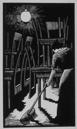 Tenth image (of eighteen) for Burden , chapter 14 in the book Destiny, A Novel in Pictures by Otto Nückel (New York: Farrar and Rinehart,Inc. [1930 ])