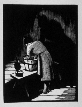 Twelfth image (of eighteen) for Burden , chapter 14 in the book Destiny, A Novel in Pictures by Otto Nückel (New York: Farrar and Rinehart,Inc. [1930 ])