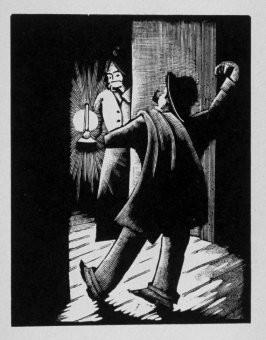 Fifteenth image (of eighteen) for Burden , chapter 14 in the book Destiny, A Novel in Pictures by Otto Nückel (New York: Farrar and Rinehart,Inc. [1930 ])